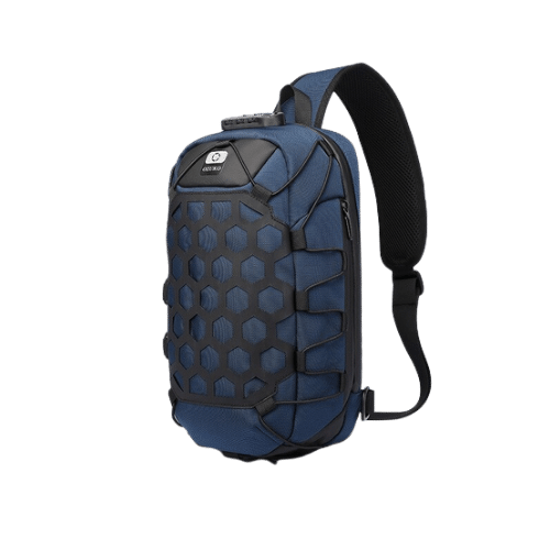 sac bandoulière bleu Ozuko